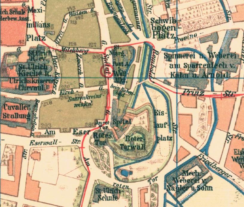 Karte Augsburg.Alte Karten Auf Neuem Medium Die Augsburger Zeitung