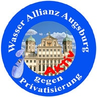 Vor Ort engagierte sich die Augsburger Wasser Allianz gegen die Privatisierung der Wasserversorgung