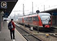 Fuggerexpress im Augsburger Hauptbahnhof