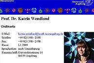 Webseite von Dr. Katrin Wendland