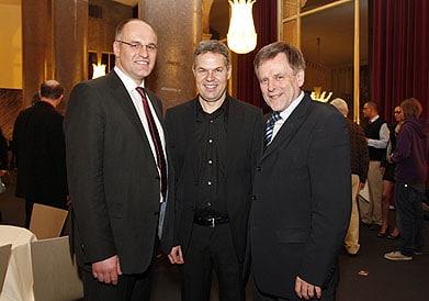 v.l.: OB Dr. Kurt Gribl, Festivalleiter Joachim Lang, Bernd Kränzle