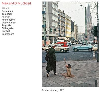 Maik und Dirk Löbbert - Schirmständer, 1987