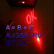 Arena mit Laser-Graffiti der Augsburger oder internationalen Szene