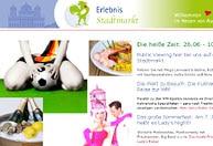 Public Viewing und kulinarische Weltreise: Webseite des Stadtmarktes zur WM