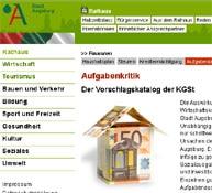 Noch fehlt der Rechenschaftsbericht 2011 im Internet: Webseite der Stadt Augsburg