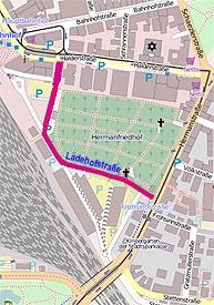 Ladehofstraße zwischen Herman- und Halderstraße
