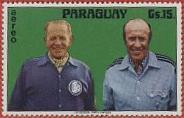 Sepp Herberger und Helmut Schön (rechts) als Briefmarkenmotiv