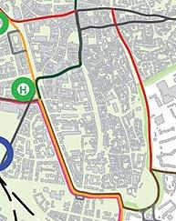 Straßenbahnnetz ohne Max-Linie: Leitidee Innenstadt-Ideenwettbewerb 2009