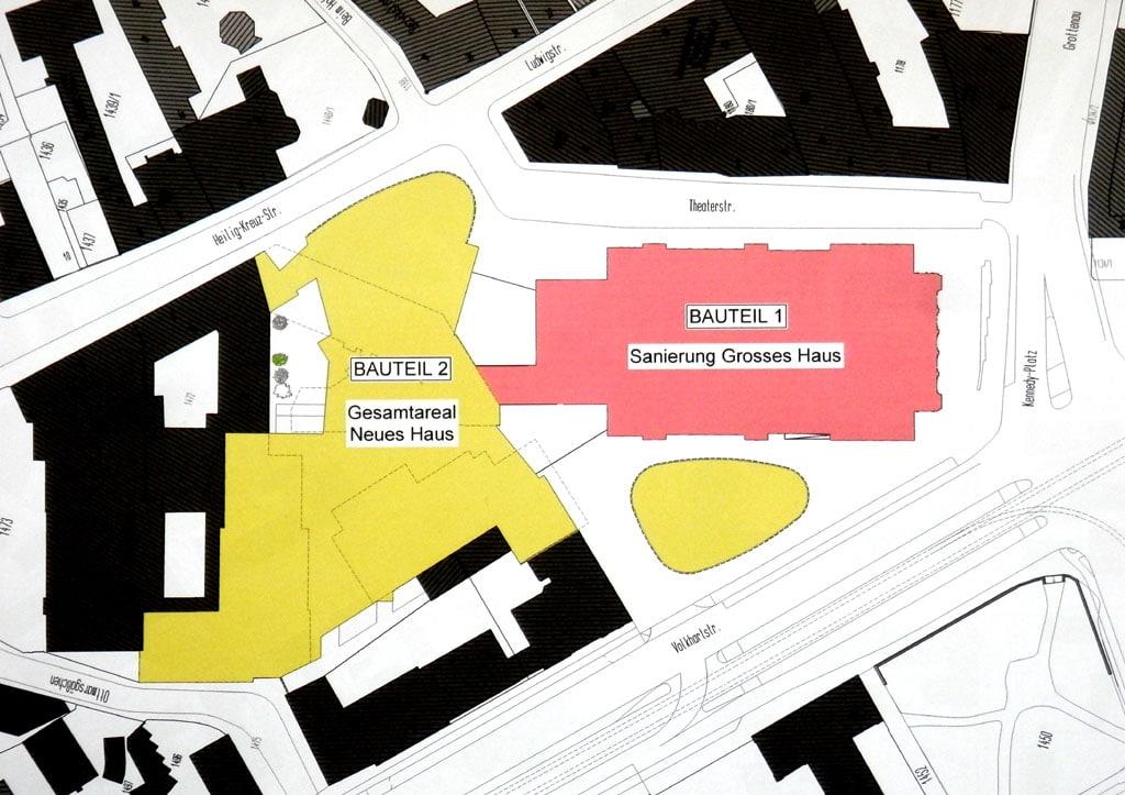 Theatersanierung: Lageplan