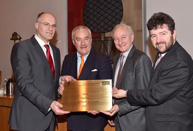 Dr. Kurt Gribl, Dr. Ludwig Spaenle, Hermann Köhler, Dr. Stefan Kiefer (v.l.)