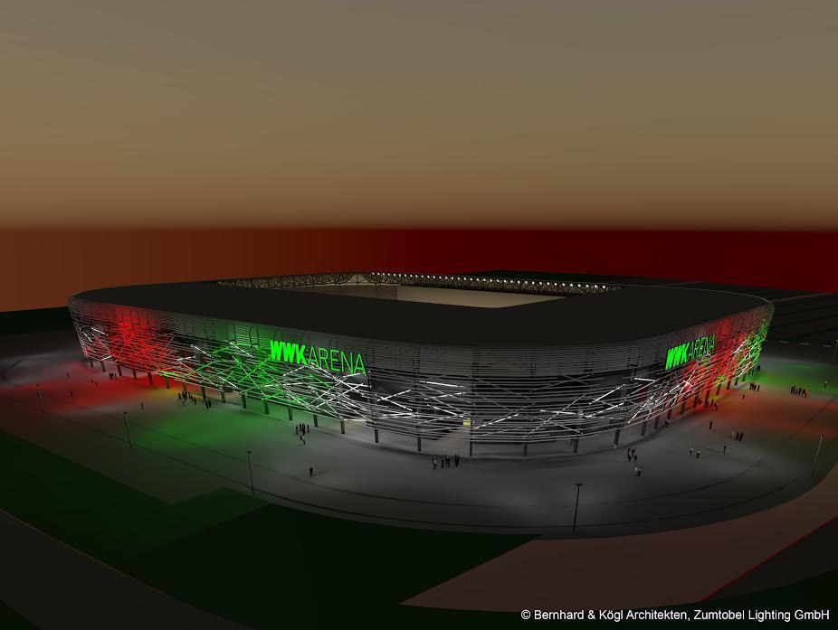 So soll die Fassade der WWK Arena aussehen