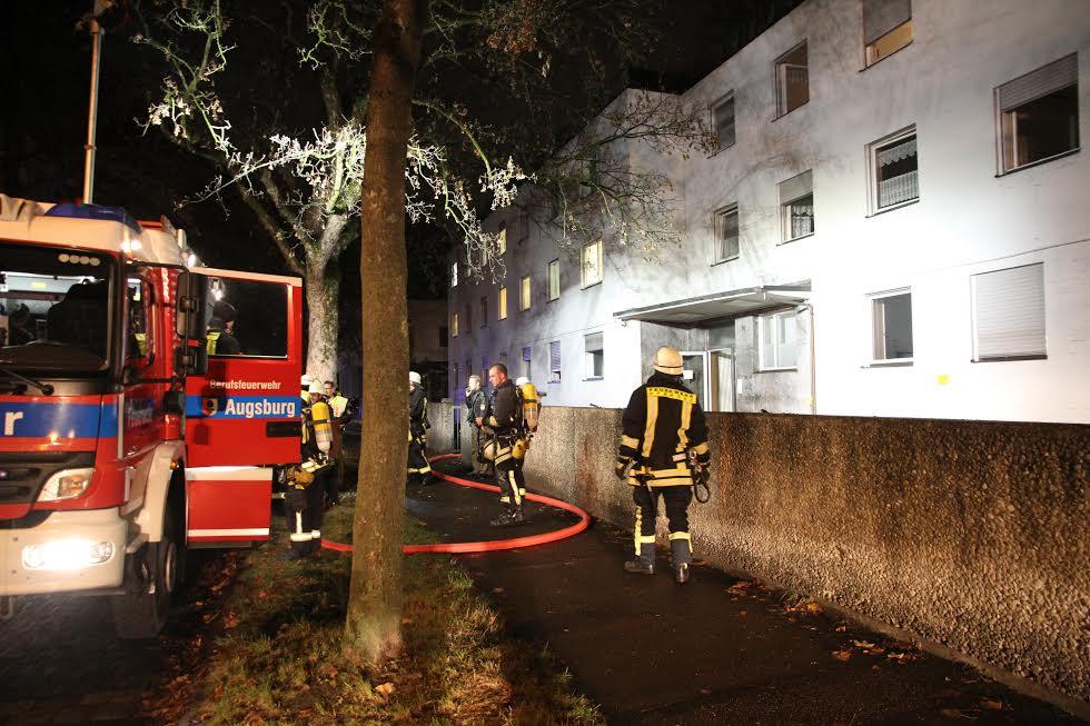 Großeinsatz der Feuerwehr in Pfersee