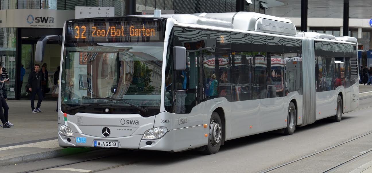 Nicht nur wegen ihren Emissionswerten, sondern auch wegen ihres Komforts eine Bereicherung für den ÖPNV: Die Augsburger Mercedes-Flotte - Foto: swa / Thomas Hosemann