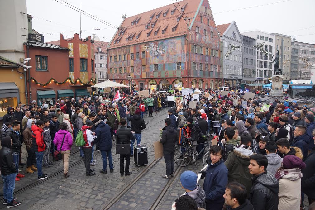Augsburger Kundgebung gegen Abschiebungen nach Afghanistan (Foto:privat)