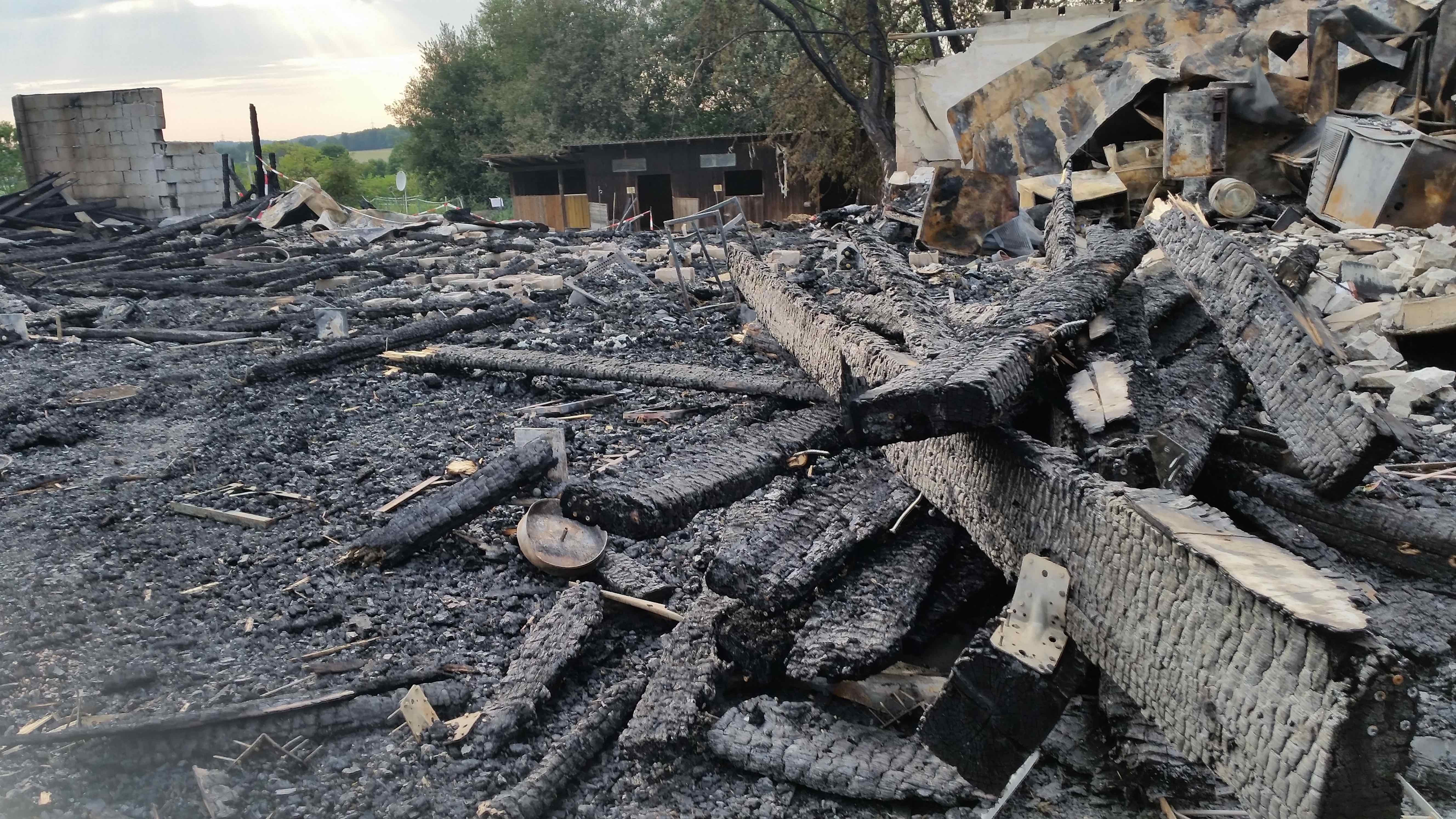 Dasinger Western-City kurz nach dem Brand